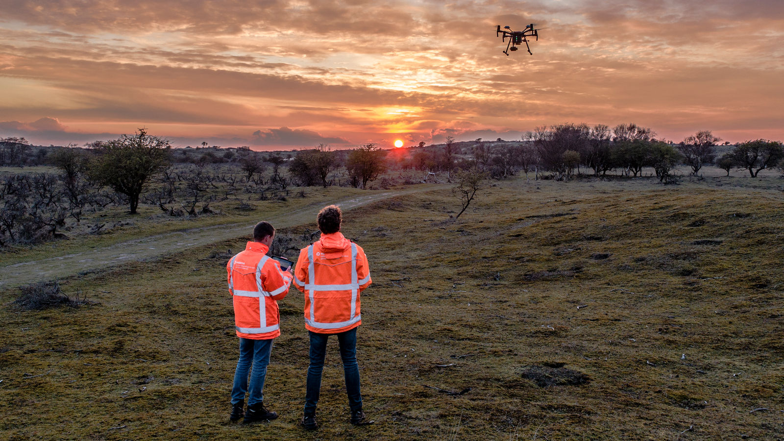 Nick en Tim drone Waterleidingduinen