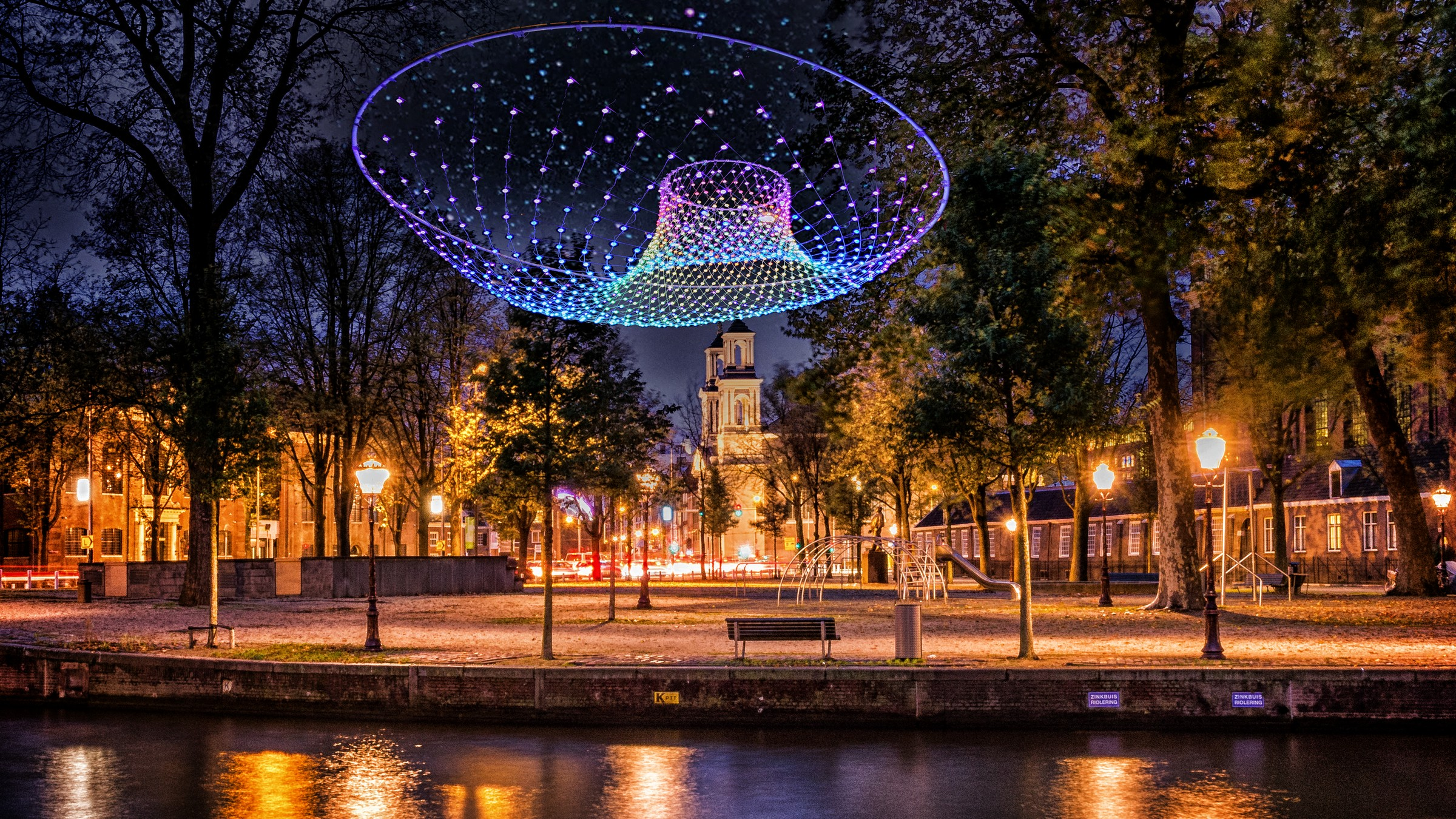 Light Festival 2018 Parabolic Lightcloud